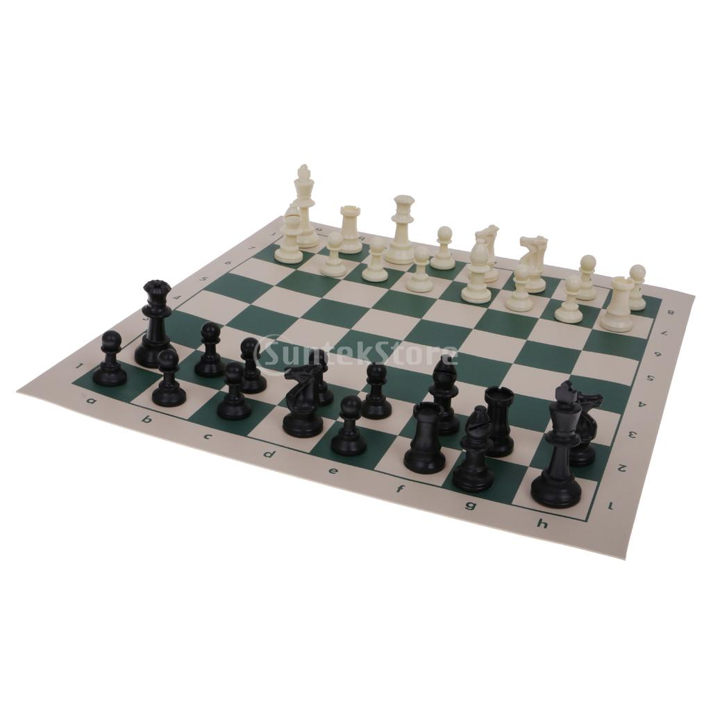 Portable Travel Chess Set Roll Up Mat In Tube Shaped Box
